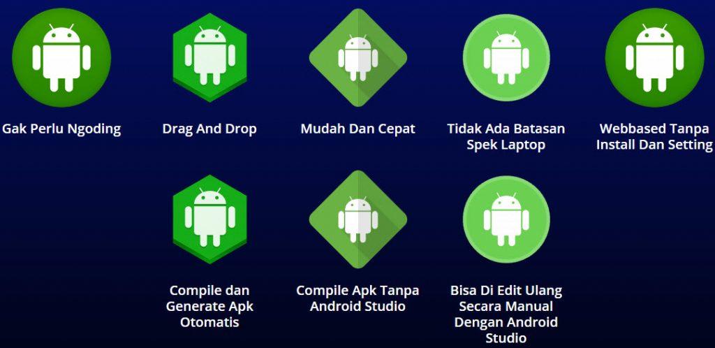 membuat aplikasi android tanpa coding hanya drag and drop